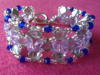 PULSERA AZUL Y HIELO-BRACELET BLUE AND ICE