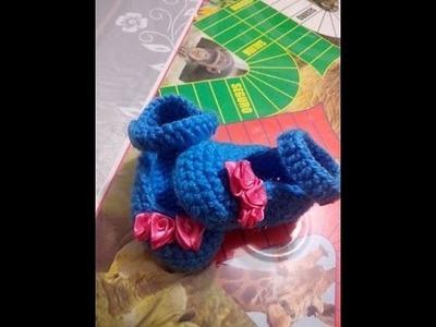 Zapatos  Para bebe en Crochet de 0-3 Meses