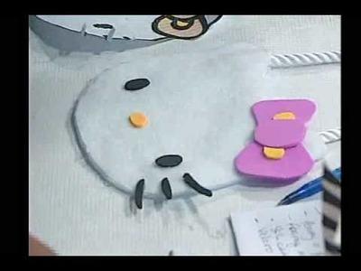 145. Cómo hacer una carterita de Hello Kitty. Parte 2