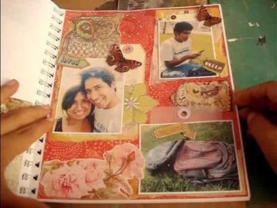 2-Scrapbook-Smash book 2014. Tutorial smash book-haz una pagina conmigo 2.proceso- Smash time