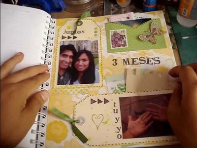 6-Scrapbook-Smash book 2014. Tutorial smash book-haz una pagina conmigo 6.proceso- Smash time