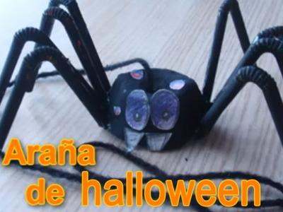 Araña de halloween || Manualidades para halloween