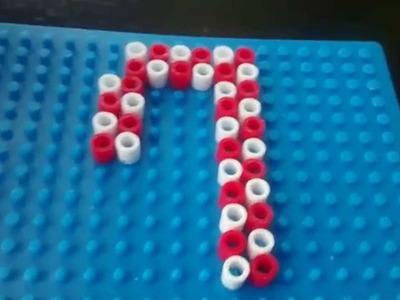 Bastón de caramelo de hama beads