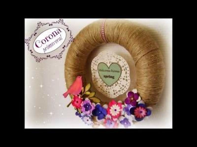 DIY Corona primaveral. Spring wreath