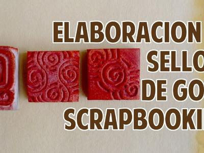 Elaboracion de sellos de goma (scrapbooking seal elaboration).