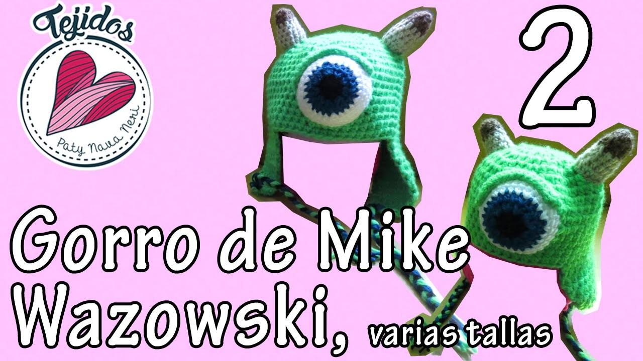 Gorro a crochet de Mike Wazowski - TUTORIAL, Pt 2 de 2.