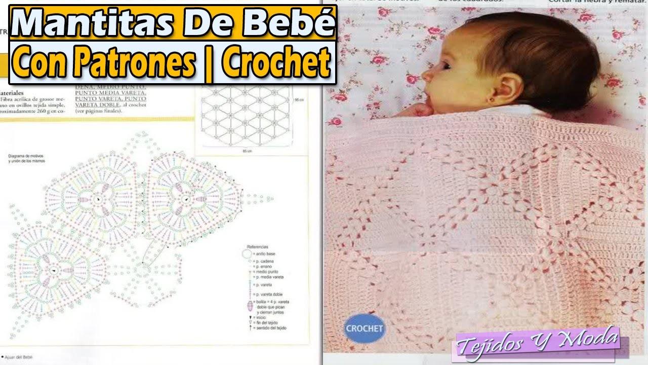 Mantita, Cobijita Para Bebe Con Patrones - Tejidos a Crochet