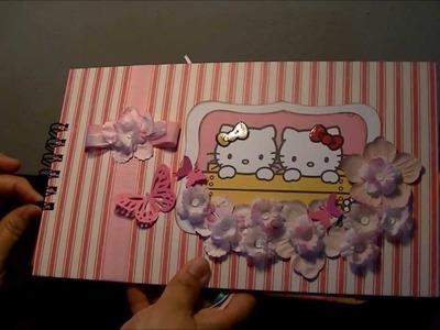 Miini Album de sobres Hello Kitty. Scrapbook.
