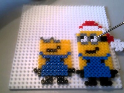 Minion Papa Noel de Hama Beads  HD By Rainbowman