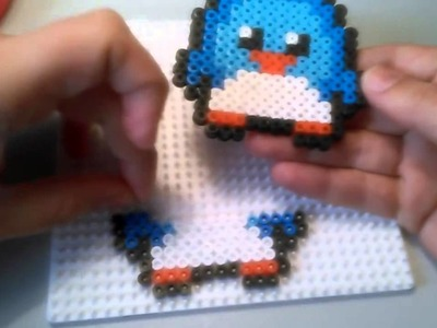 Pingüino de Estilo Kawaii de Hama Beads  HD By Rainbowman