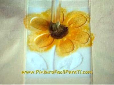 Pintura de Flores 05 Pintura en Tela - Pintura Facil Para Ti.wmv