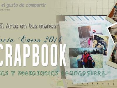 Scrapbook Álbum de Tercias Mes de Enero