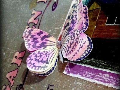 Scrapbooking - Mariposa en 3D - Mariposas Troqueladas - Carolina Ghelfi