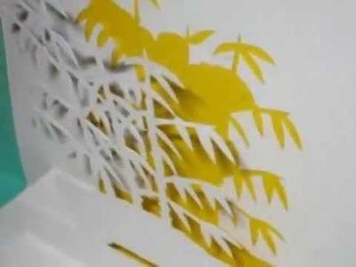 Tarjetas pop up y origami arquitectonico no.7