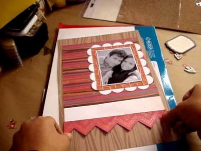 Tutorial scrapbook-Diario Scrapbook. Smash Book- Entrada paso a paso. proceso