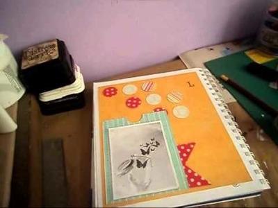 Tutorial scrapbook-Diario Scrapbook. Smash Book- Proceso. Has una pagina conmigo 2