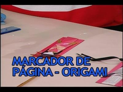 Artesanato - Marcador de pagina Origami (11.02.2014)