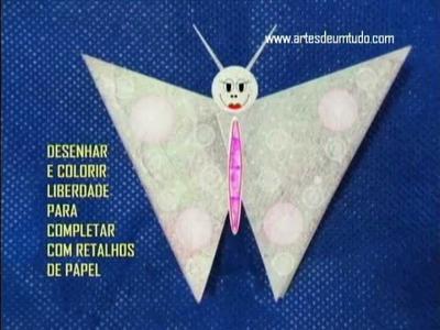 Como Fazer Origami #07 Borboleta 02