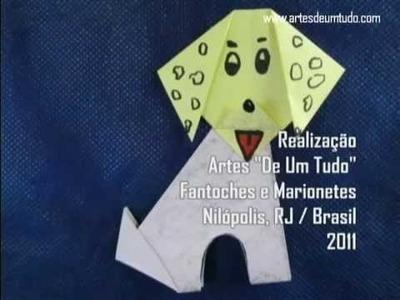 Como Fazer Origami #10 Cachorro 01