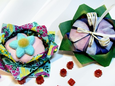 Cómo hacer flores con servilletas de papel. How to make flowers with paper napkins