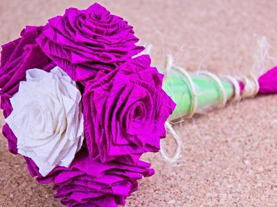 Como hacer un Ramo de rosas. #SanValentinDePapel. Origami