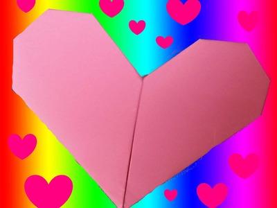 CURSO DE PAPIROFLEXIA gratis 7. Corazón de papel, Tutorial origami heart DIY