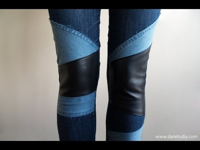 DIY: customiza tus jeans (denim patchwork)