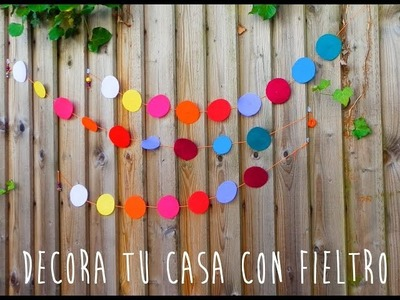 DIY Decora tu casa con fieltro -  Decor your home with felt