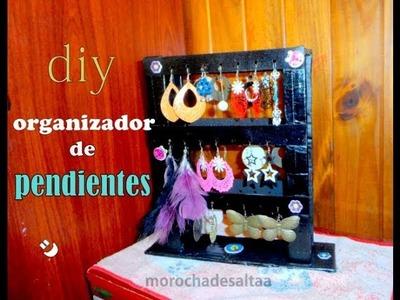 Diy:organizador de pendientes (organizer rings )