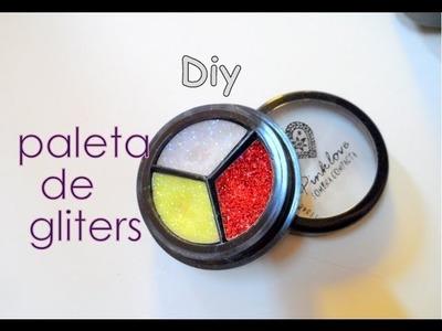 Diy  paleta de gliters ( facil y rapido)  gliters palette