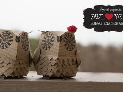 DIY Paper Owls - Buhos Enamorados ( Valentine's Day Edition)