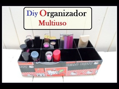 DIY: realiza un Organizador multiuso para labiales esmaltes etc.( lipstick organizer)