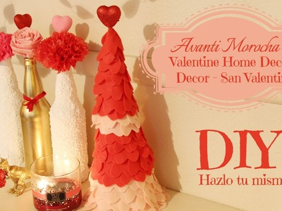 DIY Valentine -Ideas para San Valentin. Love Tree. Valentine's Day Bottles. Flores de Papel