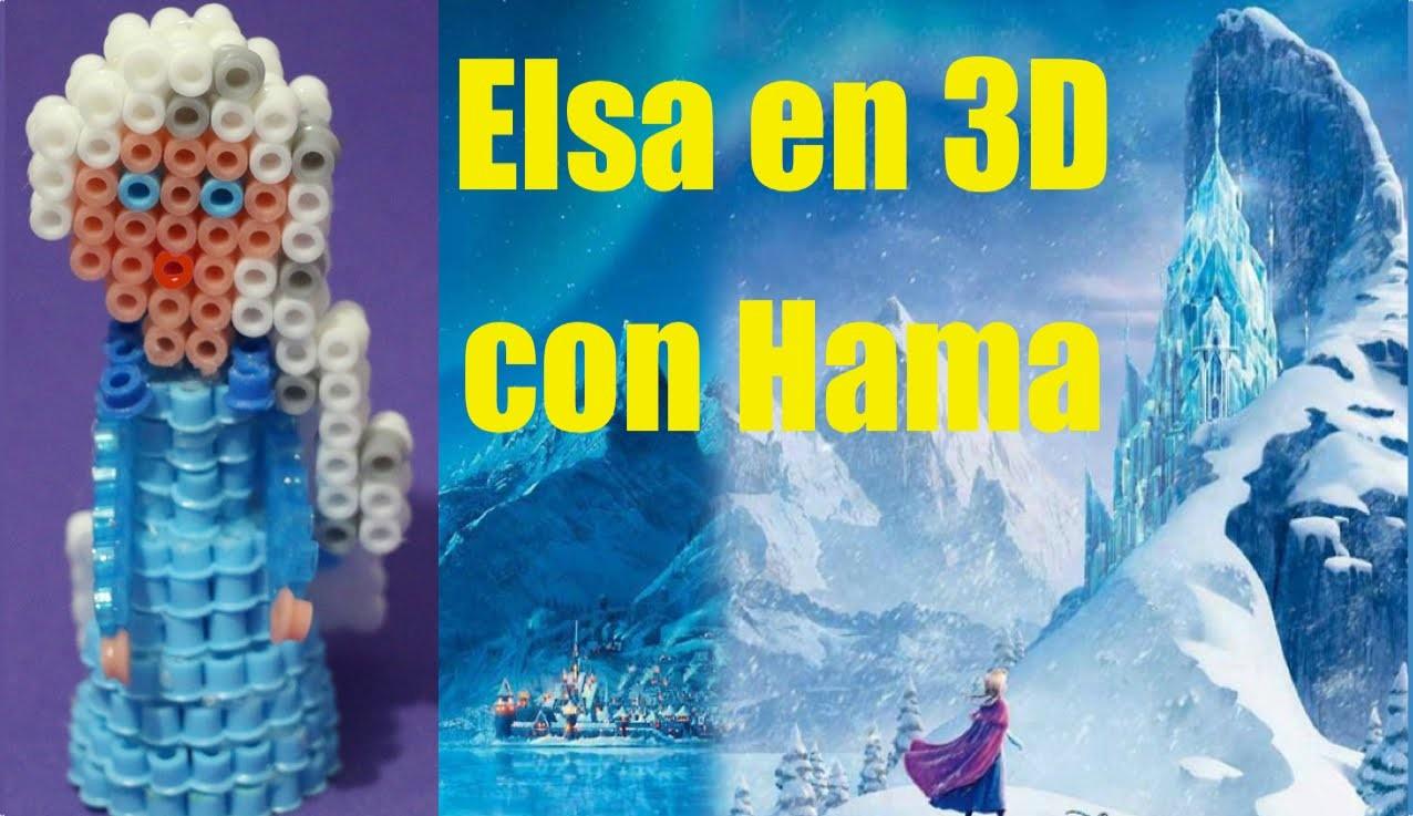 Elsa de Frozen en 3D de Hama