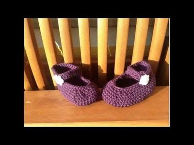 Escarpínes de bebe en crochet - Zapatillos en croché de BerlinCrochet