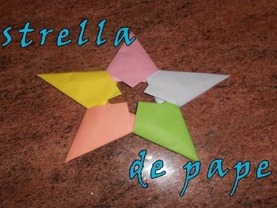 Estrella de papel origami
