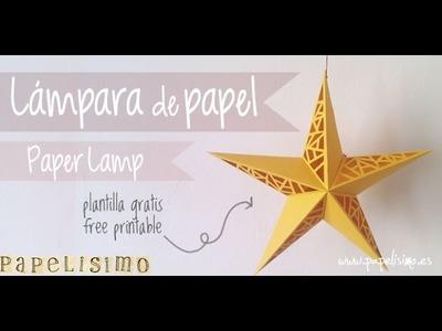Lampara estrella de papel (Paper Star Lamp)