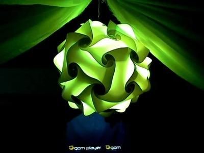 Lampra de origami- Led deco decoracion de salones Parana Entre Rios