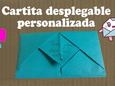 #Origami - Carta desplegable!! San Valentín #Love !!