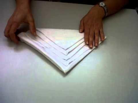 Origami servilletas el diamante - Origami con servilletas ...