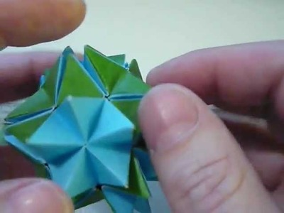 Origami Spikey Ball (Pop Up Star) (Revealed Flower).MOV