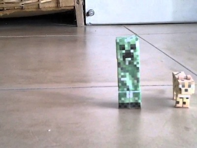 Papercraft #2 Creeper y Ocelote :'.