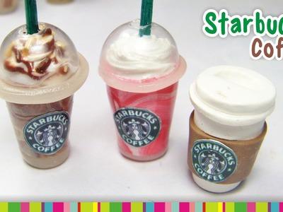 Starbucks Coffee (LID) polymer clay tutorial.  Café de Starbucks de arcilla polimérica