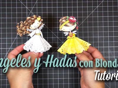Tutorial - Angeles y Hadas con Blondas (Paper Doilies)