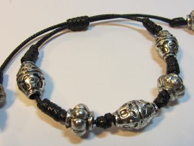 Tutorial: Pulsera de nudos. Bracelet knots.