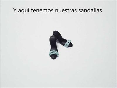 Tutorial Sandalias de Tacón. Tutorial Heel Sandals