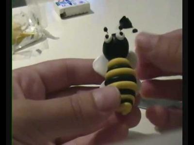 Avispa fimo polymer clay bee