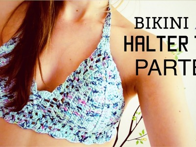 Bikini. halter top a crochet (ENGLISH SUBTITLES!) paso a paso - Parte 2 de 2