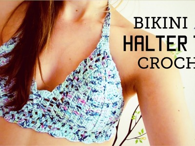 Bikini. halter top a crochet (ENGLISH SUBTITLES!) paso a paso - Parte 1 de 2