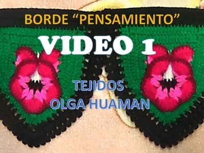 BORDE A CROCHET PARA COLCHA PENSAMIENTO VIDEO 1